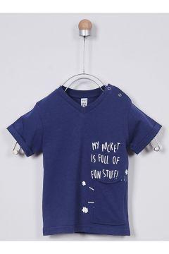 T-shirts Pour Bébé Panço Bleu Marine(109327581)
