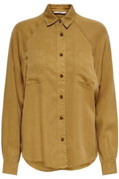 ONLY Loose Fit Overhemd Dames Bruin(111128089)