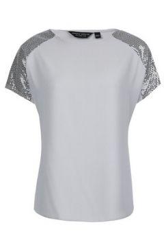 Silver Sequin Trim T-Shirt(88823102)