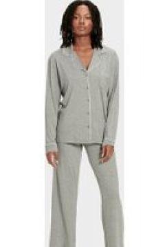 UGG Lenon Set Pyjamas pour Femmes en Grey Heather, taille Grande(112238794)