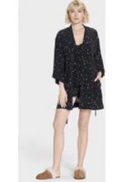 UGG Lolla Silk Peignoir pour Femmes en Black Stars, taille Grande(112239262)