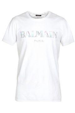 T-shirt Balmain Tee Shirt Stretch Rh11601 -(101638415)
