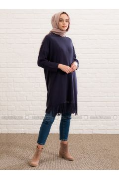 Navy Blue - Crew neck -- Jumper - Lysa Studio(110340424)