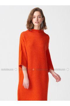 Orange - Polo neck -- Tunic - Dilvin(110336356)
