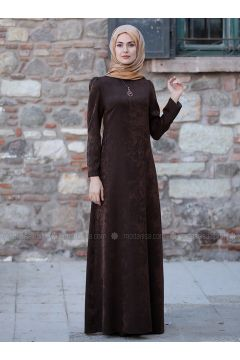 Brown - Unlined - Dresses - Sure(110342623)