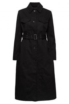 Juttu Solid Coat Trenchcoat Mantel Schwarz MARIMEKKO(108839438)