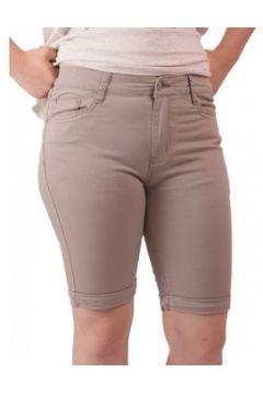 Short Primtex Bermuda en jean taille haute coton stretch léger(115421593)