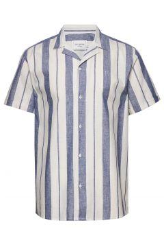 Simon Shirt Kurzärmliges Hemd Blau LES DEUX(114155403)