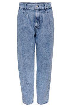ONLY Onlhavana Life Hw Carot Cropped Straight Fit Jeans Damen Blau(110433285)