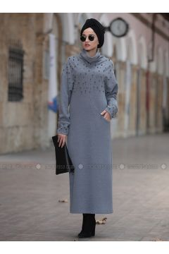 Gray - Polo neck -- Tunic - Piennar(110335008)