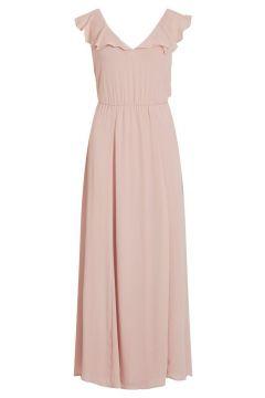 VILA V-hals Maxi Jurk Dames Pink; Purple(107864643)