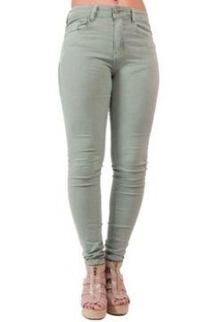 Jeans Primtex Jean slim vert clair taille haute en stretch(88678985)