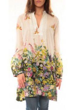 Tunique Palme Robe Canarie 49580 Blanc(88501472)