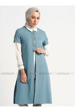 Blue - White - Ecru - Unlined - Suit - Butik Neşe(110335603)