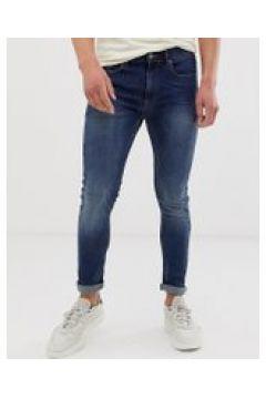 Burton Menswear - Extrem enge Jeans in verwaschenem Mittelblau - Blau(93859986)