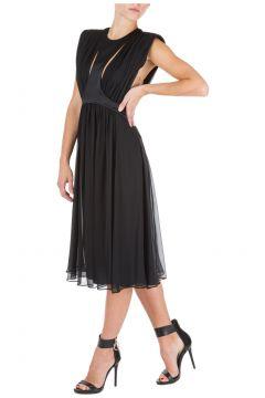 Women's calf length dress sleeveless(116914446)