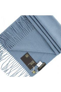 Echarpe Emporio Balzani echape 100% cachemire bleu(88704654)