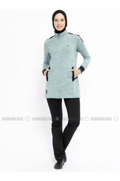 Green - Polo neck - Tracksuit Set - Bilcee(110319794)