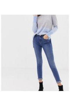 Oasis - Jeans skinny a vita medio alta lavaggio medio-Blu(112790603)