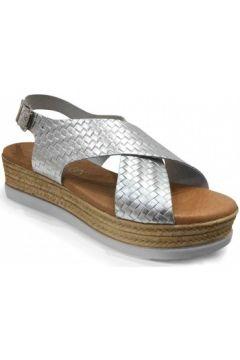 Sandales Eva Frutos Sandale Compensée Argent(101536773)