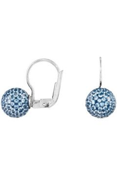 Boucles oreilles Cleor Boucles d\'oreilles en Argent 925/1000 et Oxyde Bleu Femme(115444603)