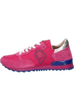 Baskets Invicta sneakers rose textile daim AB52(88470018)