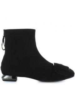 Chaussures escarpins Nicole Bonnet Bottines En Daim Noir(101554279)