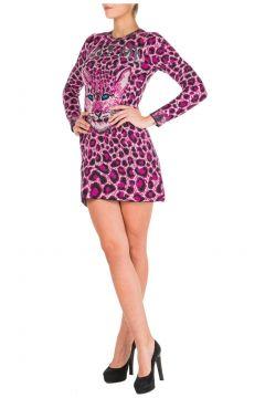 Women's short mini dress long sleeve love me wild(116886892)