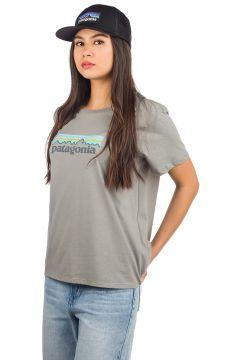 Patagonia Pastel P-6 Logo Organic Crew T-Shirt feather grey(97840635)