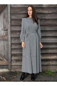 Black - Houndstooth - Dresses - Ayşen Özen(110322004)