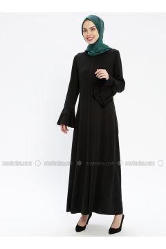 Black - Unlined - Crew neck - Abaya - ECESUN(110337594)