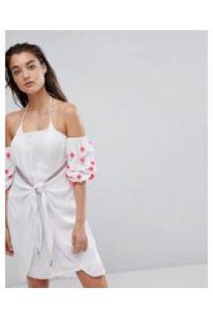 Pitusa - Bali - Strandkleid mit Wickeldesign - Weiß(83087095)