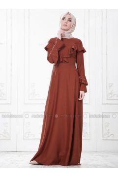 Terra Cotta - Crew neck - Unlined - Dresses - SomFashion(110329276)