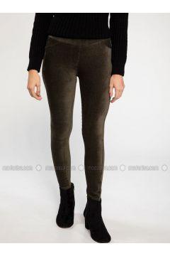 Khaki - Legging - DeFacto(110334544)