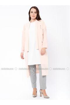Powder - Crew neck - Unlined - Plus Size Evening Suit - Tuana(110337119)