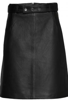 Luza Leather Skirt Knielanges Kleid Schwarz ANDIATA(108574045)