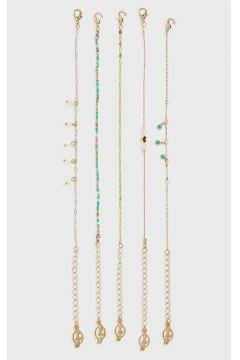 Stradivarius Lot de 5bracelets à perles fantaisie multicolores FEMME Jaune 103(116577287)