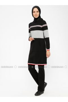 Black - Crew neck - Tracksuit Set - MODAGÜL(110326821)