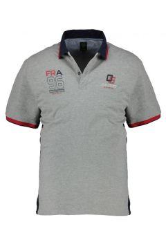 Kitaro: Sportives Poloshirt im maritimen Freizeit-Look, kurzarm, 8XL, Hellgrau(108830249)