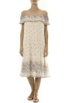 Robe By La Vitrine Robe Beige Care of you Imprimée Fleurs F50134(88507216)
