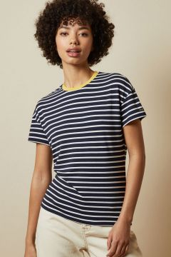 Striped Branded T-shirt(111098951)