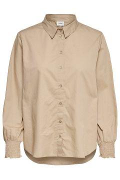 ONLY Smokdetail Overhemd Dames Beige(114382644)