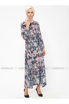 Powder - Multi - Crew neck - Unlined - Dresses - Melek Aydın(110315478)