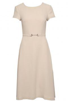 Monique Dress Kleid Knielang Beige IDA SJÖSTEDT(108942570)