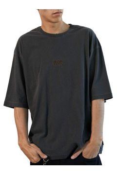 T-Shirt à Manche Courte Afends Distressed Oversized - Stone Black(114065410)