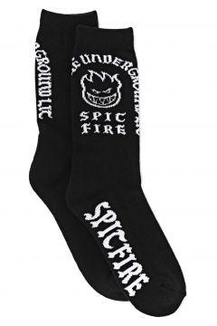 Spitfire Steady Rockin\' Fashion Socks - Black White(115309783)