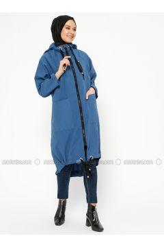Blue - Indigo - Unlined - Topcoat - Laruj(110319708)