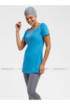 Turquoise - Unlined - Half Covered Switsuits - Sunmore(110333208)