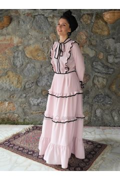 Pink - Polo neck - Unlined - Dresses - Al Tatari(110313178)