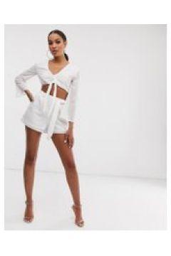 Lasula - Texturierte Shorts in Weiß - Weiß(93482209)
